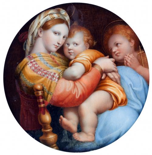 COPIA DE RAFAEL (Escuela española, siglo XIX)Virgen de la