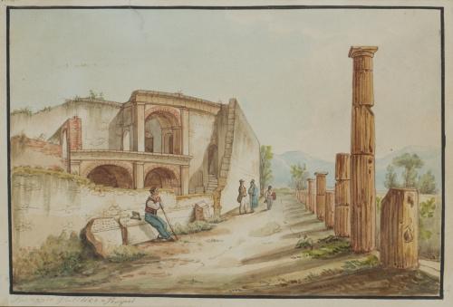 ESCUELA ITALIANA S. XIXPosseggio Publicce à Pompei. Templo