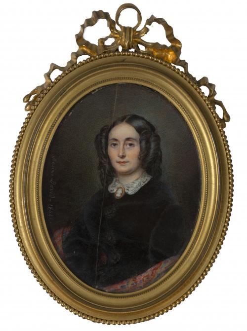 MAXIME DAVID (1798-1870)Retrato de dama