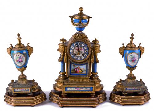 Guarnición de chimenea Napoleón III de estilo Luis XVI, met