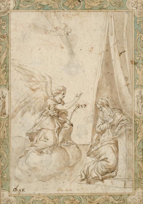 ESCUELA ESPAÑOLA, h. 1700Anunciación (anverso), y Adoració