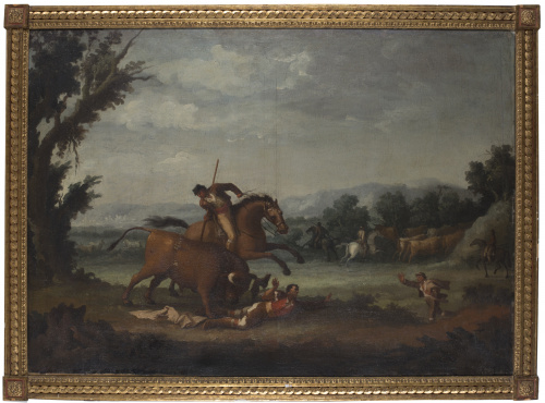 ESCUELA ESPAÑOLA, H. 1800Tienta en la dehesa