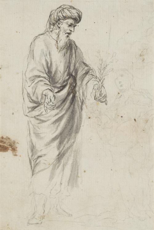 ESCUELA ESPAÑOLA SIGLO XVIIISan José y la Virgen al fondo