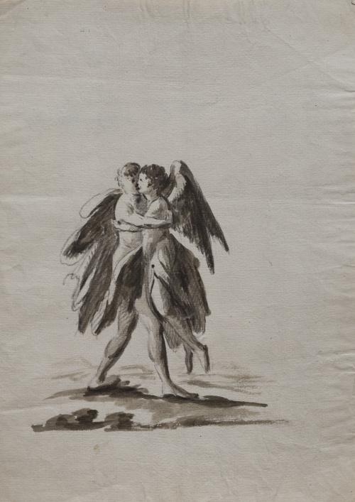 ESCUELA ESPAÑOLA PP. SIGLO XIXPareja de ángeles