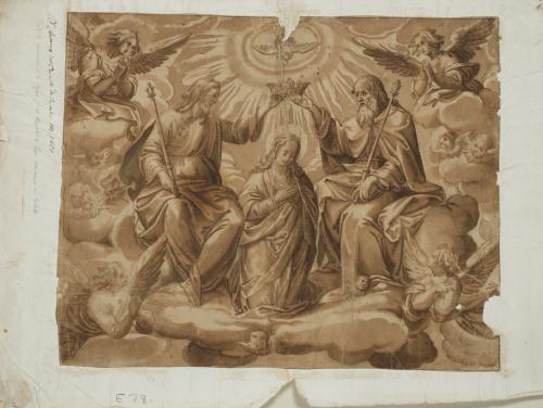 ESCUELA ESPAÑOLA SIGLO XVIICoronación de la Virgen