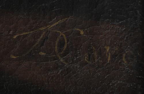 "CARO (Escuela napolitana, S. XVIII)""Bodegón con pavos y g"