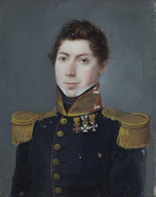 ESCUELA ESPAÑOLA,  h.1817.Retrato de un capitán español, c
