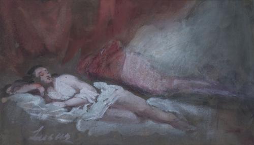 EUGENIO LUCAS VELÁZQUEZ (1817-1870)Desnudo