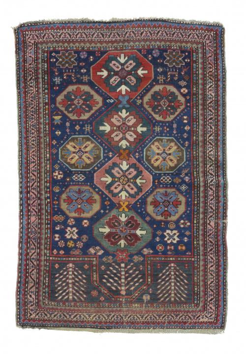 Alfombra del Caucaso Karabaq, con diseño de Mihrab (oración