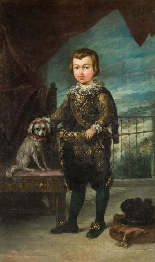 EUGENIO LUCAS VELÁZQUEZ (Madrid, 1817 - 1870)Retrato del P