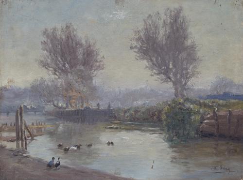 JOSÉ MARÍA SUAY DAGUÉS (Valencia, siglo XIX-XX)Orillas del