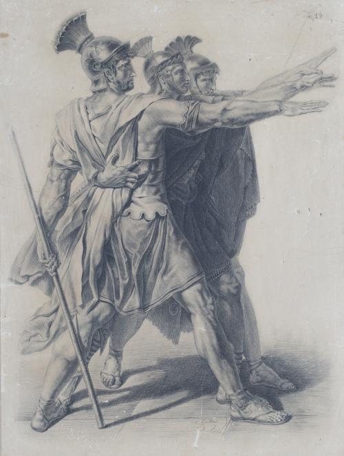 ARTHUR GAILLARD (Escuela francesa, siglo XIX)El juramento