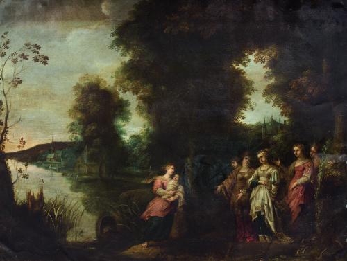 ATRIBUÍDO A ARTUS WOLFAERTS (1581-1641)Moisés salvado de l