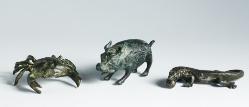 """Jabalí"" en bronce.Trabajo chino, probablemente Ming."