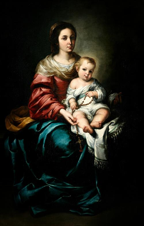 BARTOLOMÉ ESTEBAN MURILLO (1617-1682)Virgen del Rosario co