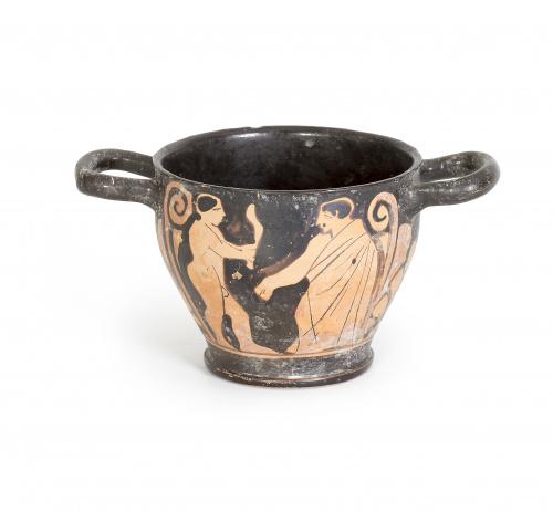 Esquifos de cerámica griega según la técnica de figuras roj