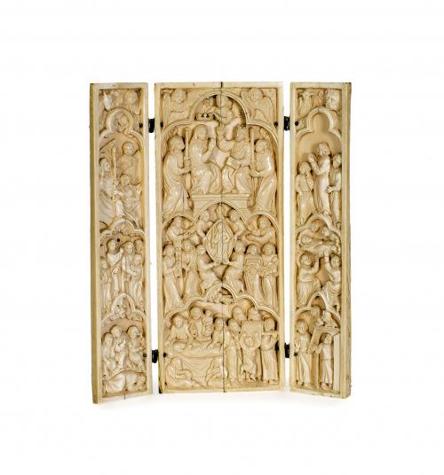 TrÍptico con escenas relativas a la vida de la Virgen, en m