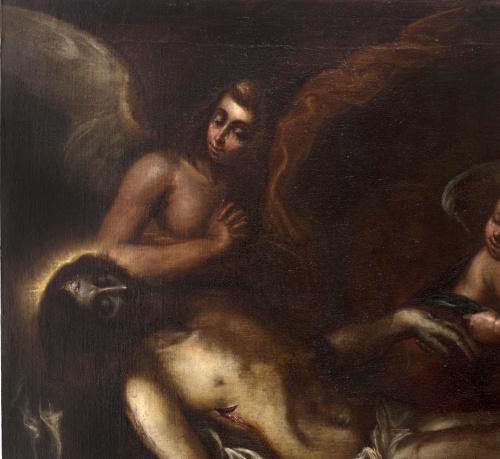 ALONSO CANO (Granada, 1601 - 1667) Cristo muerto sostenido