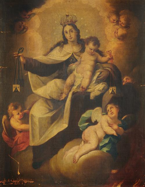 ESCUELA ESPAÑOLA, H. 1700, ESCUELA ESPAÑOLA, H. 1700Virgen
