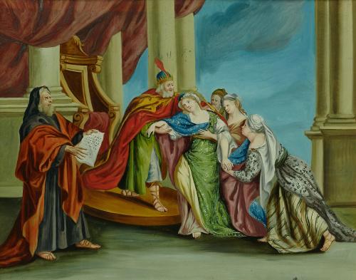 ESCUELA CENTROEUROPEA SIGLO XVIIIEsther se desmaya ante As