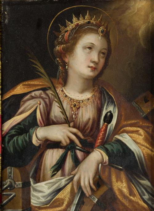 ESCUELA ESPAÑOLA SIGLO XVIISanta Catalina de Alejandría