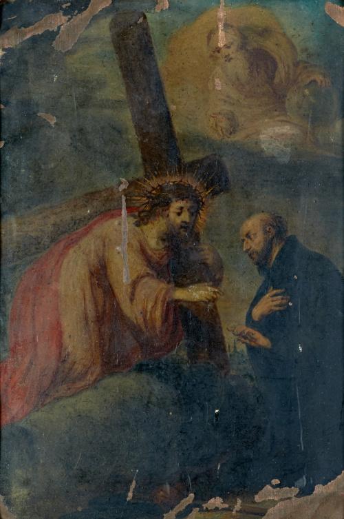 ESCUELA FLAMENCA SIGLO XVIIAparición de Cristo a san Ignac