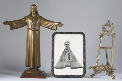 "Frederic Mares (1893-1991)*""Sagrado Corazón""Escultura de"