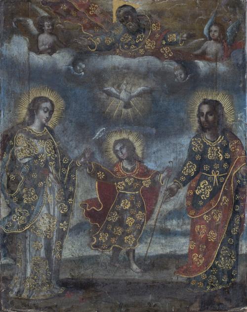 ESCUELA COLONIAL SIGLO XVIIISagrada Familia
