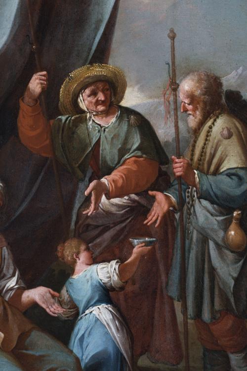 PIETRO FABRIS (act. 1754-1804)Una familia de aldeanos y un