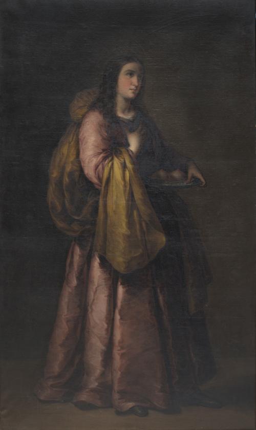 JOSÉ GUTIÉRREZ DE LA VEGA (1791-1865)Santa Águeda, 1854