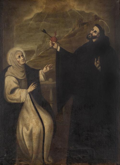 ESCUELA ESPAÑOLA SIGLO XVIISan Agustín y santa Mónica, con