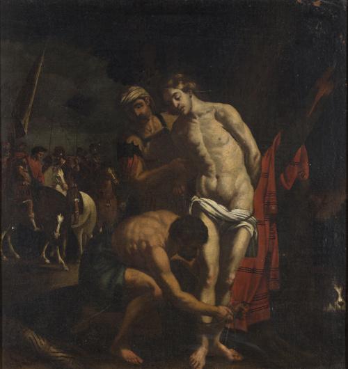 ESCUELA ITALIANA, SIGLO XVIIExpolio de Cristo