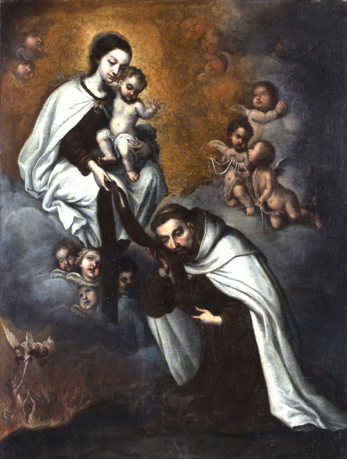 ESCUELA ESPAÑOLA, SIGLO XVIILa Virgen con el Niño entrega