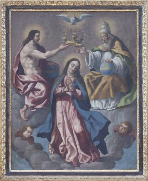 ESCUELA ESPAÑOLA, H. 1800La coronación de la Virgen