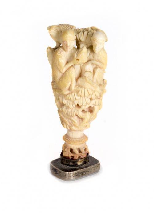 Sello en marfil tallado.China, S. XIX