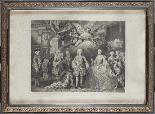 JACOPO AMICONI (1682-1752) pint. y JOSEPH FLIPART (1721-179