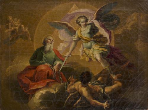 ATRIBUIDO A FRANCISCO LLÁCER  (1781-1857)Arcángel san Migu
