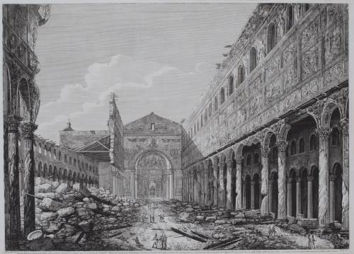 LUIGI ROSSINI (1790-1857)Rovina della gran Basilica di S.