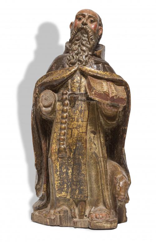 """San Antonio Abad""Escuela burgalesa, S. XVI - S.XVII"