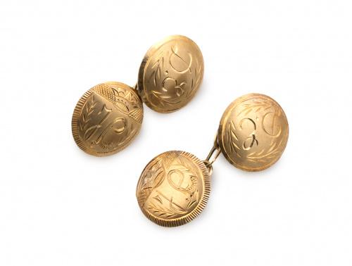 Gemelos dobles en forma de botones semicirculares con inici
