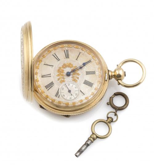 Reloj saboneta de bolsillo con maquinaria firmada HAAS & PR