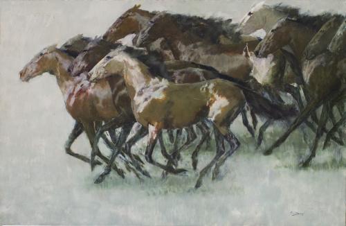 RICARDO ARENYS (Barcelona, 1914-1977)Caballos
