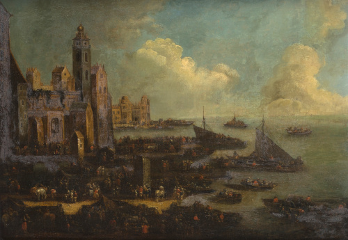 ATRIBUIDO A PEETER BOUT (Bruselas, 1658-1719) y ADRIAEN FRA