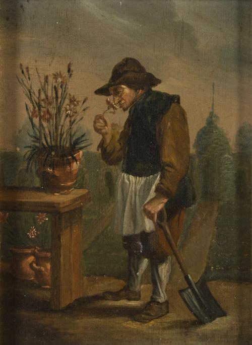 A LA MANERA DE DAVID TENIERS (Amberes, 1610 - Bruselas, 169