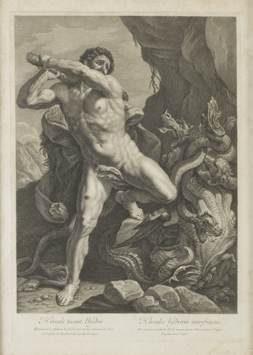 LUCA GIORDANO (inv) y AEGIDIO ROUSSELET (sculp)Hercule tua