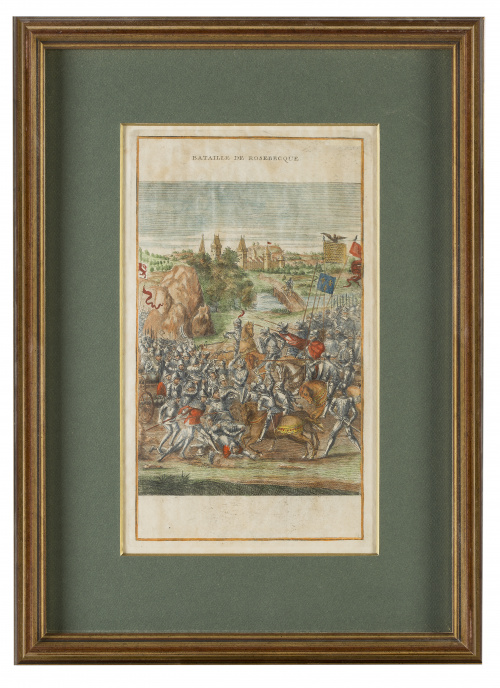"""ESCUELA FRANCESA, SIGLO XIX""""Bataille de Poitiers"""", """"Baital"""