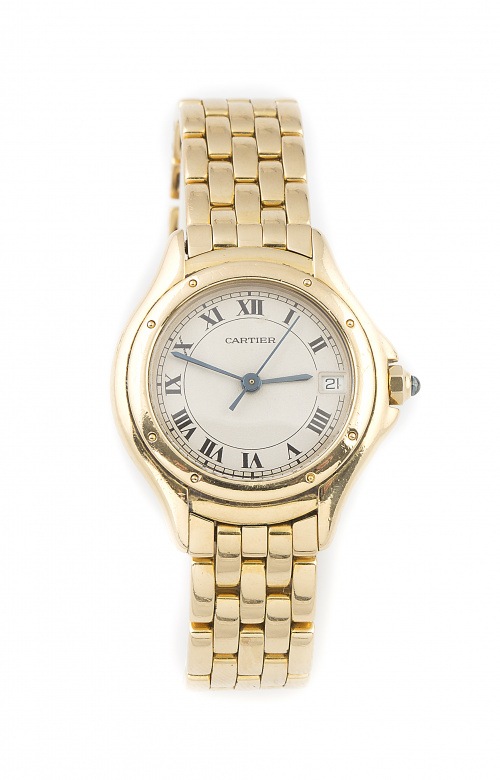 Reloj CARTIER COUGAR en oro amarillo de 18K. Ref 887921