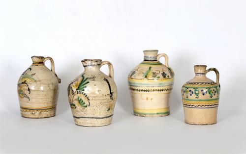 Cántaro de cerámica esmaltada.Puente del Arzobispo, S. XIX.