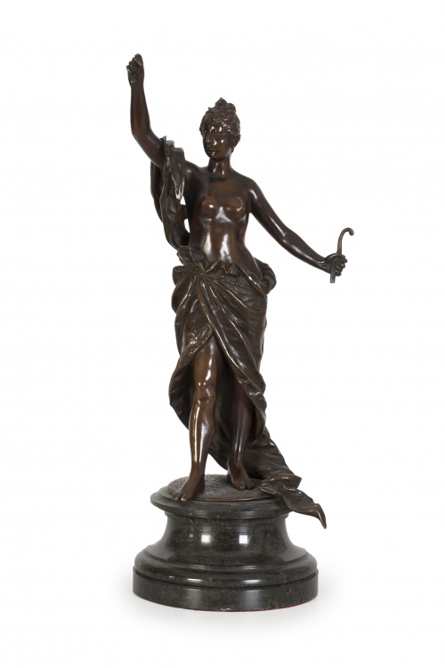"""Eugen BÖRMEL (1858-1932)""""Diana cazadora"""" Escultura en br"""