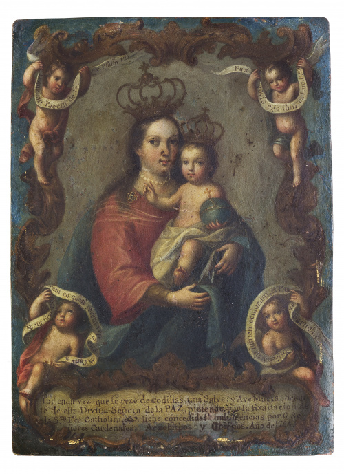 ATRIBUIDO A JOSÉ DE PAEZ (Ciudad de México, 1727 - c. 1780)